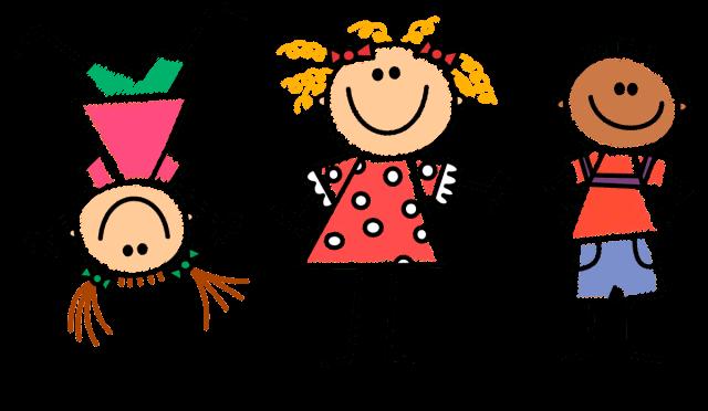 Narysowana trójka wesołych dzieci